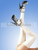 Free shipping Sexy white latex stockings , 100% natural rubber
