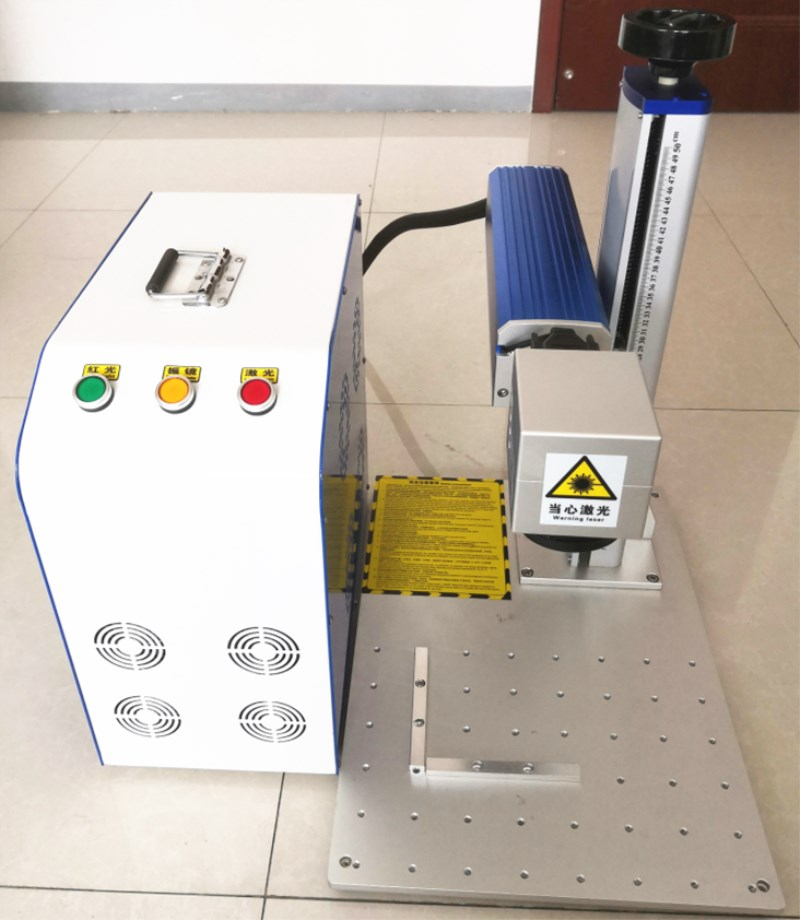 Fiber Laser Metal Marking Machine With Internal Double Red Light Assisted Focusing For Stainless Steel