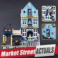 Nueva Lepin 15007 Fábrica Genuina Calle de La Ciudad Modelo de Mercado Europeo Compatible Con juguetes Educativos Bloques de Construcción 10190
