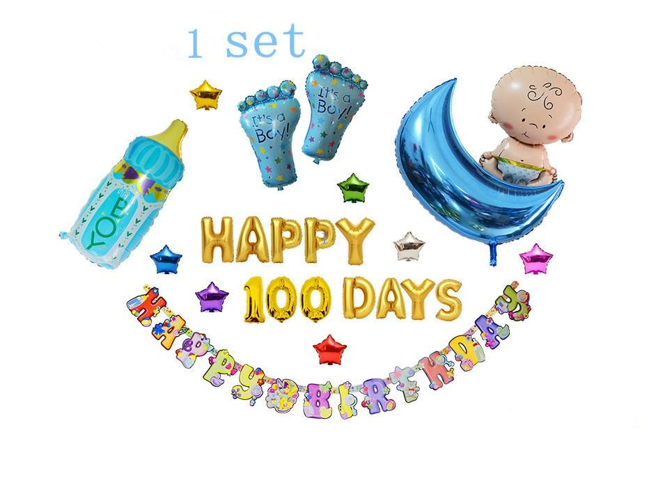 1 Set balloon baby bottle star letter balloon alphabet birthday balloon for chil