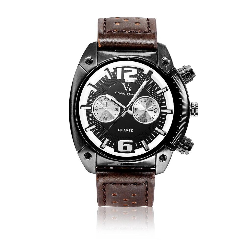relogio masculino V6 super speed watch men luxury brand men's wrist watches auto date quartz-watch men sports hour clock male super junior the 4th world tour super show 4 release date 2013 6 28 kpop