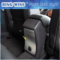 BING WINS Car styling for Chevrolet Cruze 2017 model high quality stainless steel Rear armrest box anti kick pad 1 pcs