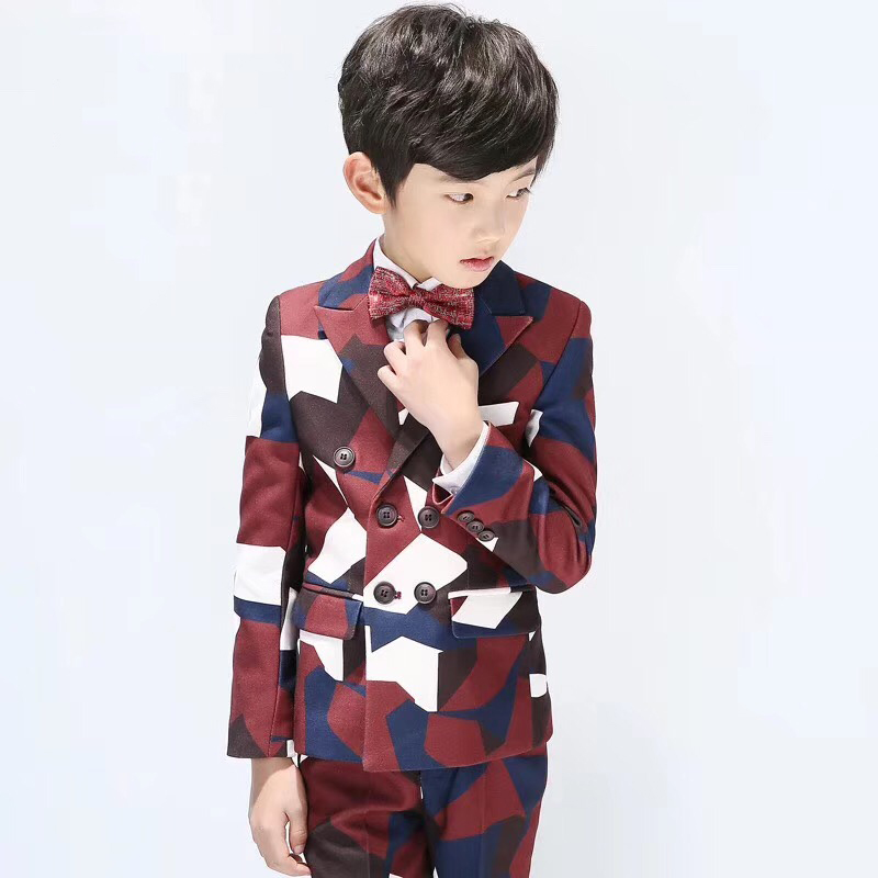 New Style Notched Lapel Boy Suits One Button Wedding Suits Children Party Tuxedos boys Smoking blazer (jacket+pant+vest)New Style Notched Lapel Boy Suits One Button Wedding Suits Children Party Tuxedos boys Smoking blazer (jacket+pant+vest)