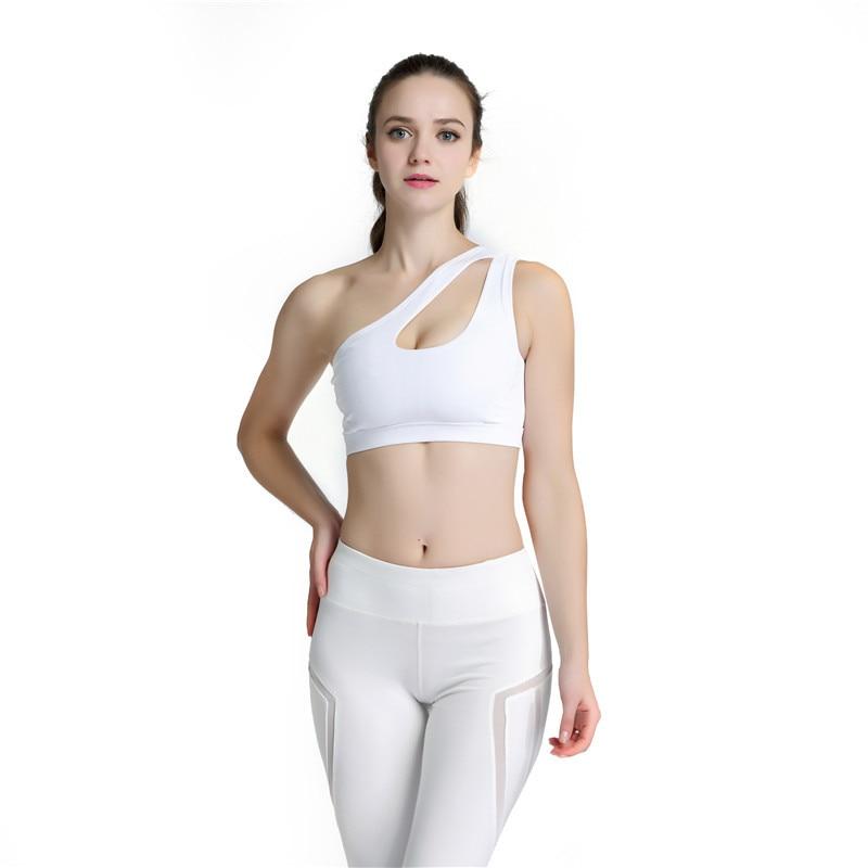 6df63f9da6 2019 2017 New Sexy Alone Shoulder Strappy Bra Cropped Women Bra ...