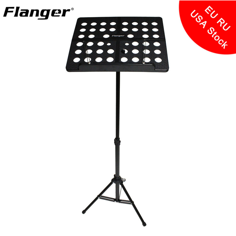Flanger Folding Music Stand Adjustable Height Aluminum Alloy Tripod Stand Sheet Holder with Portable Carrying Bag 2 Colors colourful sheet folding music stand metal tripod stand holder with soft case with carrying bag free shipping wholesales