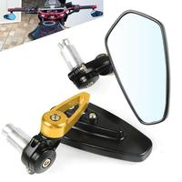 7/8 Rear HANDLE BAR END Rearview Side Handlebars Mirrors For ducati MONSTER 1200 / S / R PANIGALE V4 2014 2015 2016 2017 2018