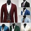 Nuevo Otoño Primavera Plus Tamaño 3XL Chaqueta de Los Hombres Blazers Trajes Multicolor