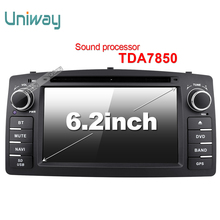 Uniway android 6.0 car dvd player gps for  Toyota Corolla E120 BYD F3 2003 2004 2005 2006 car radio stereo gps with 4G wifi