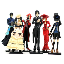 HOT Anime Kuroshitsuji Black Butler 6 pcs Set Action Figure Model Doll