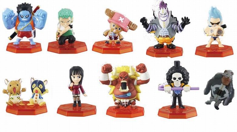 ФОТО One Piece Cosplay Zoro Chopper Usopp Franky Brook Moria Small Garage Kit Action Figures Model Toys 10Pcs/Set