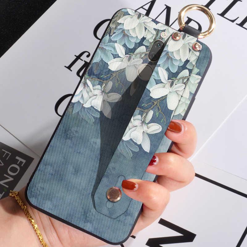Fundas para teléfono con correa de muñeca para Huawei Nova 2 Plus 2i 2 S 3 3i 3E elegante funda de flores para nova Lite/Plus/joven cubierta