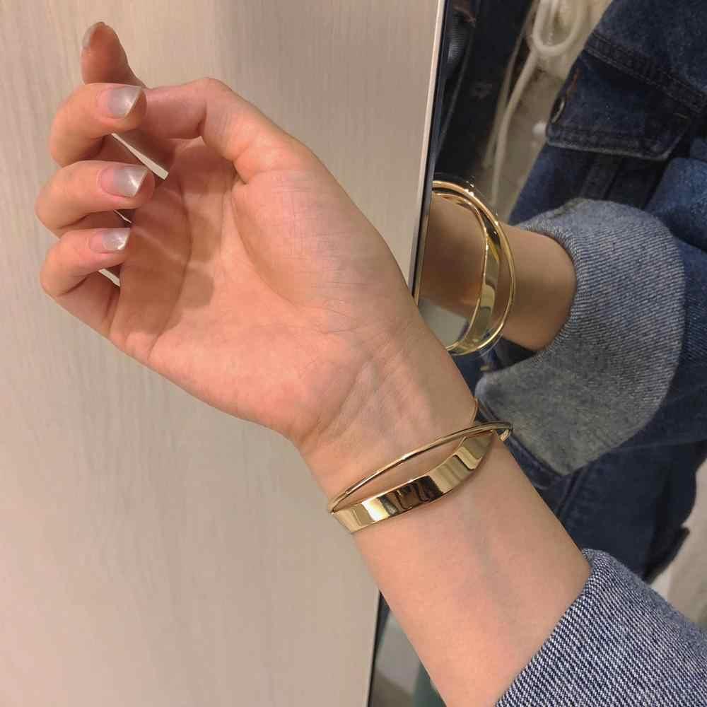 HUANZHI 2019 韓国新光沢のある二重層幾何不規則なクロスリップルオープニングための女性ガールズパーティー