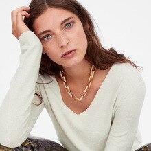 Punk Miami Cuban Choker Necklace Thick Chain European&America Golden Pendant Necklace Women Jewelry european lace choker necklace set