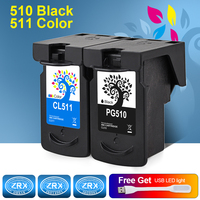 H BO Re Manufactured Ink Cartridge Replacement For PG510 CL511 For Canon Pixma IP2700 2702 MP230