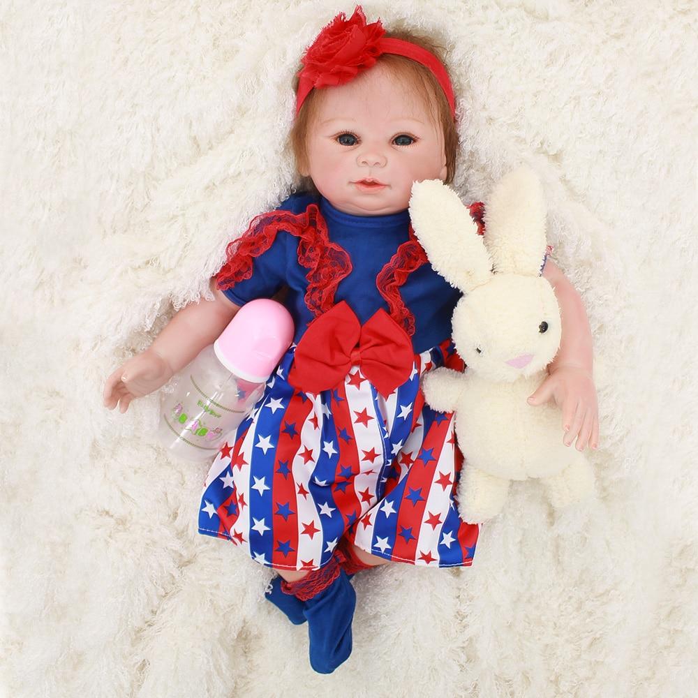 DollMai Doll reborn toys gift 1848cm cloth body soft silicone reborn baby dolls girl Bebes reborn bonecas