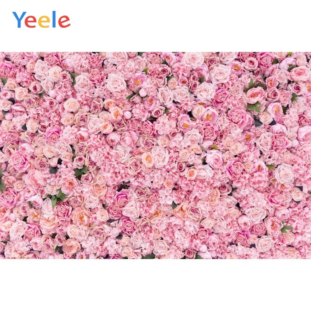 Yeele Pink Flower Wedding Photography Backdrops Children Baby Kids Birthday Party Photo Backgrounds Photocall For Photo Studio in Background from Consumer Electronics