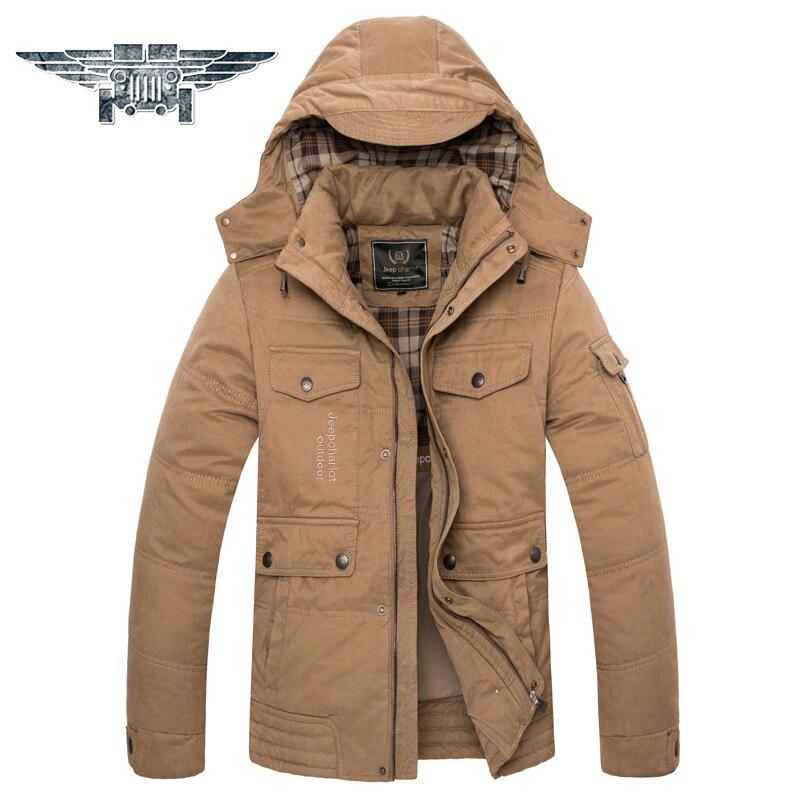 2016 Winter New Warm Men Coat Loose Large Size L-6XL  Hooded Casual Jacket Solid Cotton Jacket # JPZC1588 new arrival style men boutique parkas fashion solid detachable large hair collar men s loose thick jacket coat large size l 7xl