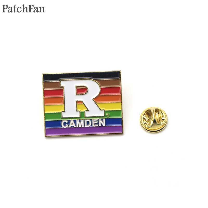 Patchfan Rainbow Colorful Huruf Seng Enamel Pin Medali untuk Ransel Kemeja Pakaian Tas Bros Lencana Pria Wanita Hadiah DIY A1796