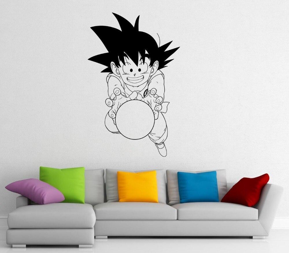 New Japanese anime Dragon Ball Monkey Cartoon Wall Stickers home decoration Boys Bedroom Decor Vinyl Removable