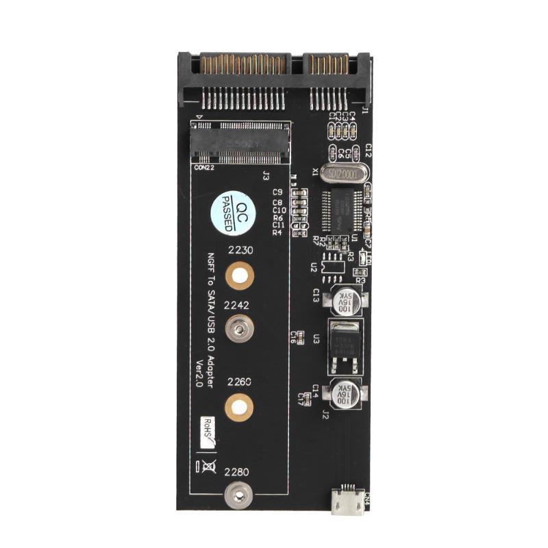 VAKIND NGFF ( M.2 ) SSD to 2.5 SATA Adapter M.2 NGFF SSD to SATA3 Converter Card with Screws USB Cable шасси orient uhd 2m2c9 для ssd m 2 ngff для установки в sata отсек оптического привода ноутбука 9 5 мм 30346