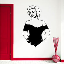 Beauty Spa Salon Vinyl Sticker Removable Marilyn Monroe Wall Girl Art Mural Home Bedroom Decoration AY718