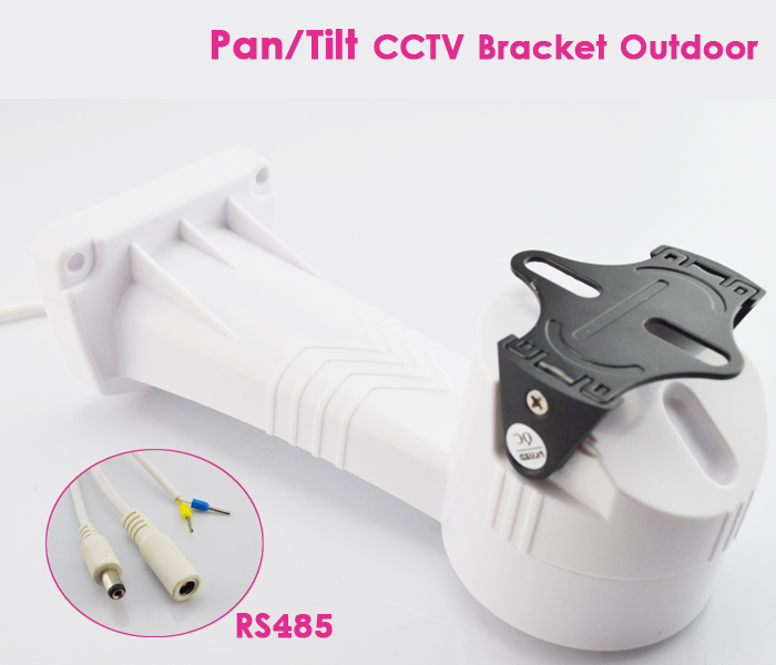 ФОТО CCTV Bracket PTZ Camera Holder Electric Rotation Pan Tilt Rotating with RS485 Security Outdoor Installation Wall Mount Bracket
