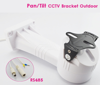 CCTV Bracket PTZ Camera Holder Electric Rotation Pan Tilt Rotating with RS485 Security Outdoor Installation Wall Mount Bracket