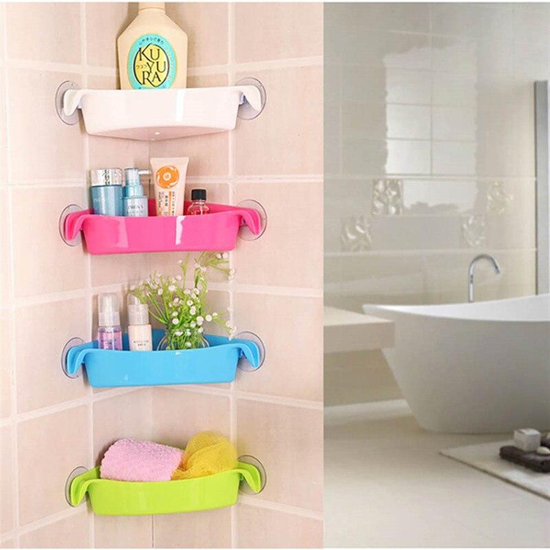 4 Colores Baño Bastidores de Cocina Titular Fuerte Ventosa Estante de Almacenami