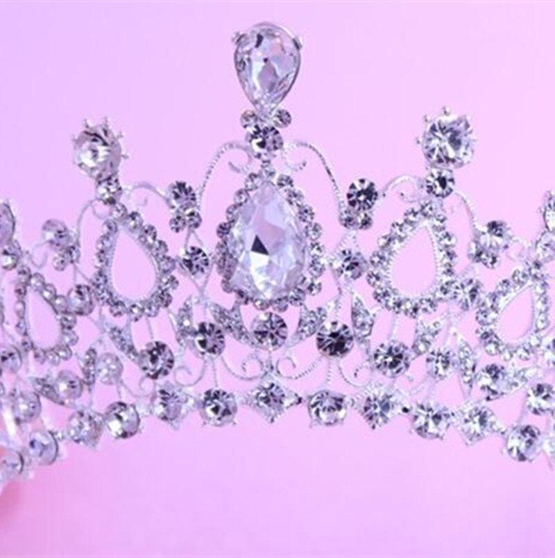 Aliexpress Buy Hot European Designs Vintage Crystal Tiara Wedding Crown Bridal Headpiece Rhinestone Tiaras Crowns Pageant MYQC002 From Reliable