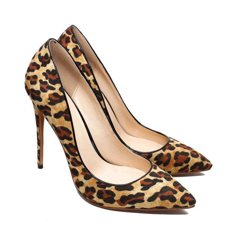 New Fashion High Heels Women Pumps Thin Heel Classic Leopard Sexy Party Wedding Shoes Plus Size Office Lady Shoes C011C new women s high heels pumps sexy bride party thick heel round toe genuine leather high heel shoes for office lady women t8802