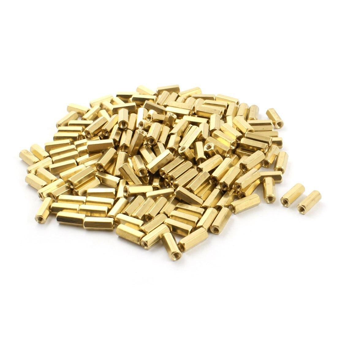 200Pcs Gold Tone M3 Female Thread Brass Pillar PCB Standoff Hexagonal Spacer 12mm for PCB circuit boards and machine boards200Pcs Gold Tone M3 Female Thread Brass Pillar PCB Standoff Hexagonal Spacer 12mm for PCB circuit boards and machine boards
