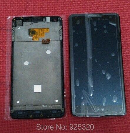 С отслеживая номером, оригинальный ЖК-дисплей + сенсорный экран + ассамблея Рамка для Philips W6610 CTW6610 Мобильного Телефона Xenium мобильного телефона