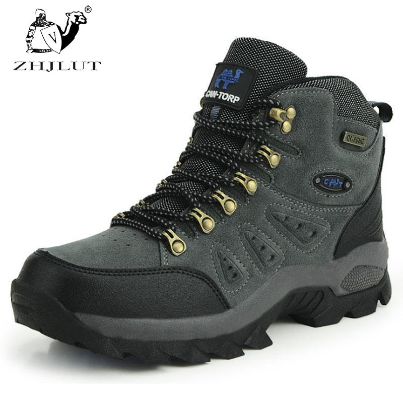 ZHJLUT New Men Women Water-resistant Walking Camping Shoes Boots Sports Shoe Leather Unisex Outdoor Hiking Shoes Boot speedo men s seaside 3 0 lace amphibious pull on water shoe