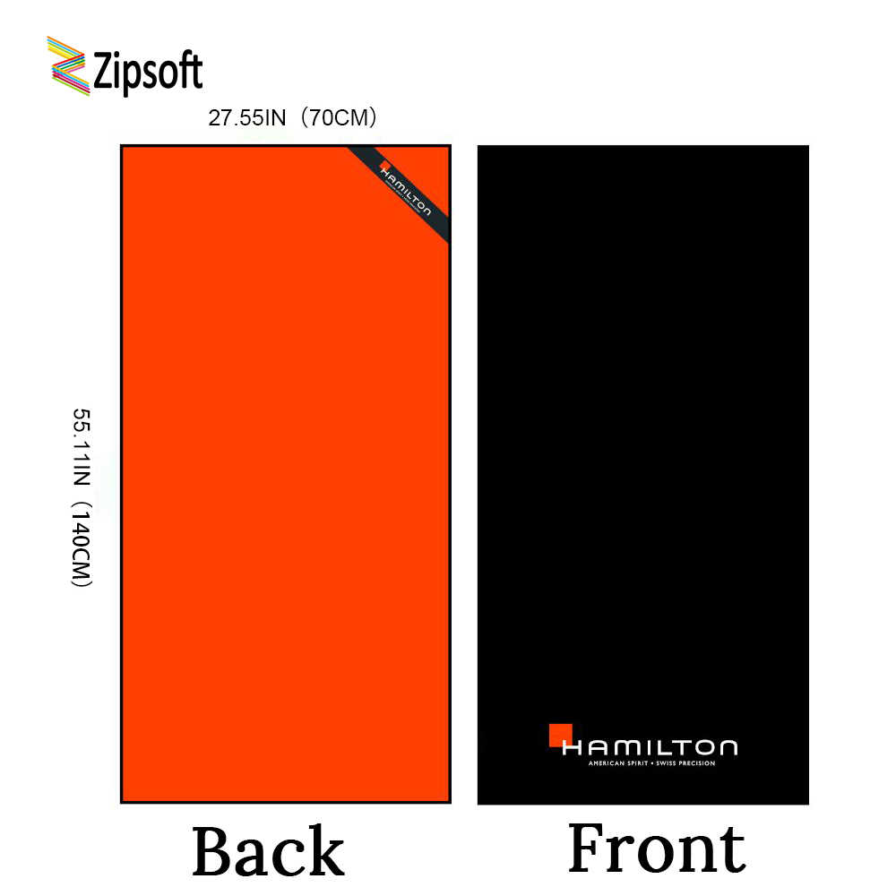 Zipsoft Beach Towel Microfiber Sports Quick dry Towel Black ...