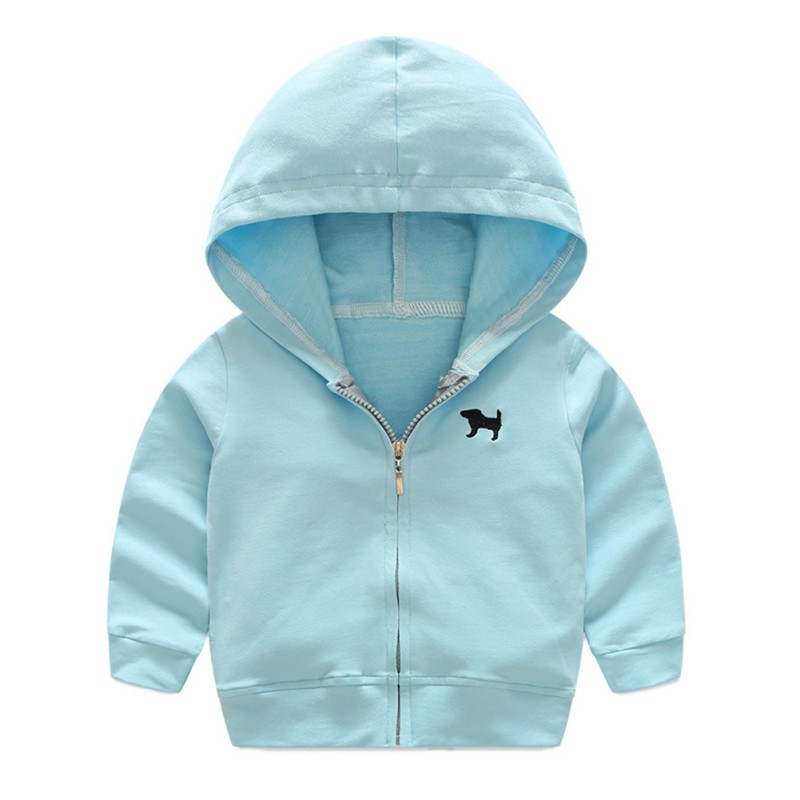 2017 0 ~ 4 Y Autumn Children's Bright color Sports Jacket Children's Hooded Cotton Jacket 3 Colors 5 Sizes