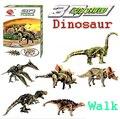 1 pcs poder 3D puzzle Animais dinossauro Stegosaurus T. rex Triceratops Boneca Em Miniatura Mini caminhada DIY Modelo de Construção de Brinquedos caçoa o Presente