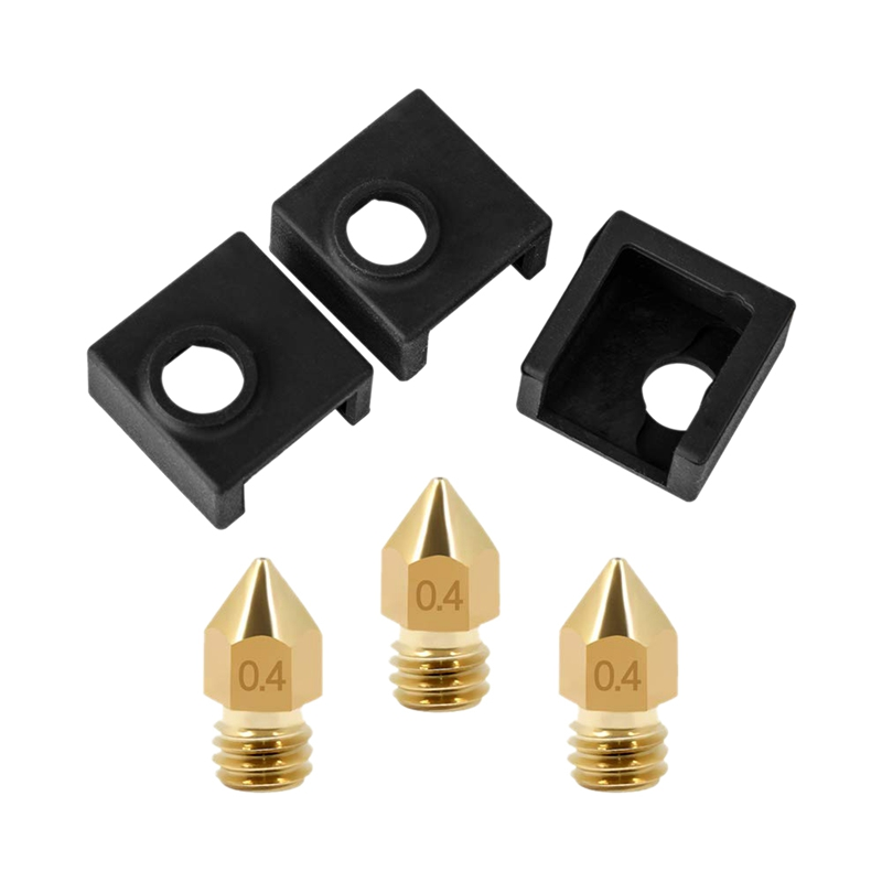 3D Printer Heater Block Silicone Cover Mk7/Mk8/Mk9 Hotend For Ender 3, Ender 3 Pro, Cr 10,10S,S4,S5 Anet A8 And Extruder Nozzl-in 3D Printer Parts & Accessories from Computer & Office