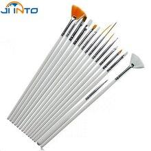 15 шт акварельные кисти Акварельные краски пластиковая ручка тянущийся крючок ручка для ногтей набор коротких миниатюрных деталей мягкий акрил