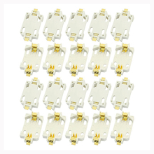 цена на 20pcs White Housing CR2032 SMD Cell Button Battery Holder Socket Case