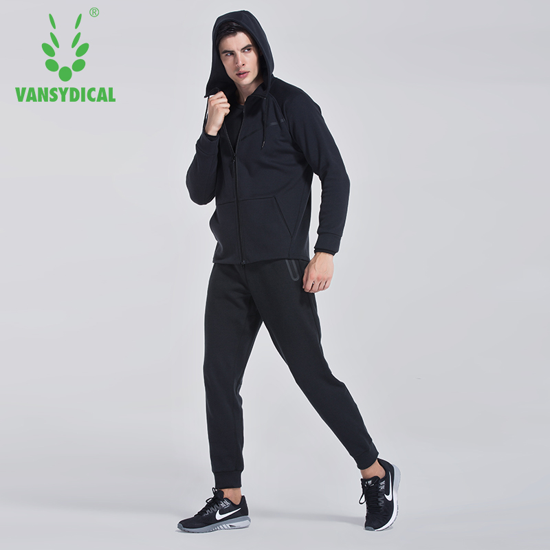 Mens Athletic Full Zip Running Training Tracksuit Jogging Sweatsuit Activewear Hooded Top Plus Size 3XL 2