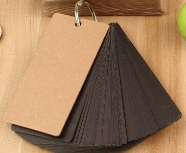 promotional gifts Black 100*50mm.new arrival fashion cute fun creative retro Kraft paper MiNi Card.Notepad.Message Post.Writing