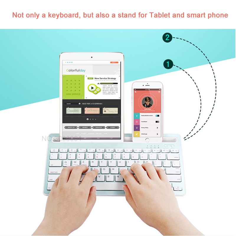 Landas 3 in 1 Wireless Bluetooth Keyboard For iPhone Keyboard for iPad Air  1 Air 2 Tablet For Andriod Phone Desktop Computer and home