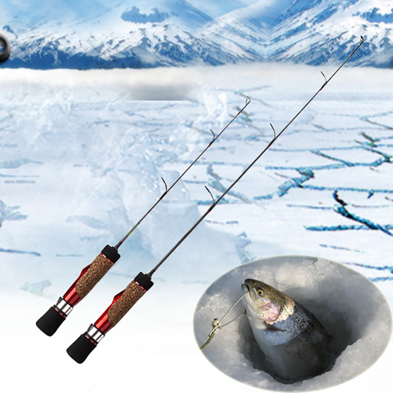 41-56CM Winter Fishing Rods Ice Fishing Rods Fishing Reels Pen Pole Lures Tackle Spinning Casting Hard Rod(China)