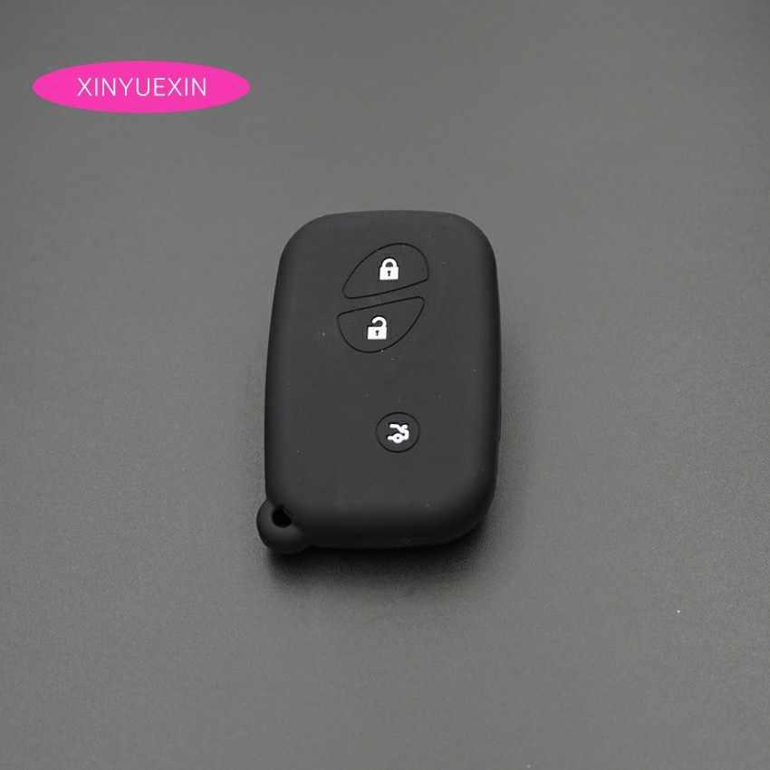 Xinyuexin silikonowa obudowa na kluczyk samochodowy pokrywa pasuje do Lexus IS GS RX ES NX LS RC LX zdalne bezkluczykowe wejście żel krzemionkowy samochód stylizacji 3 przyciski