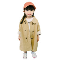 2018 Spring Autumn Children Girls Trench Coat Outerwear Fashion Kids Girls Double Breasted Windbreaker Overcoat Kids Clothes P38