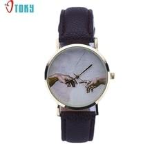 OTOKY Willby Art Pattern Women Lady PU Leather Quartz Wrist Watches 161213 Drop Shipping