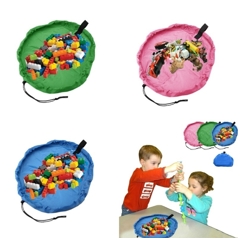 Kids Children Baby Play Mat Rug Carpet Bath Toy Storage Bag Box Organizer Basket Large Capacity Blanket Boxs 150cm
