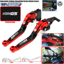 Laser Logo  CNC Adjustable Motorcycle Brake Clutch Levers fit for BMW F650GS F650 GS Dakar 650GS 2003-2007