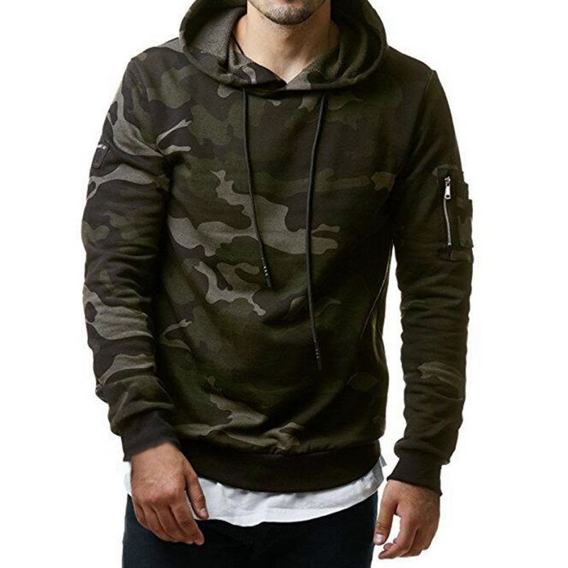 Fashion Spring Thin Men Hoodie Sweatshirt Long Sleeve Tops Shirt Military Camouflage Pullover Sweatshirts Male Coats MY047