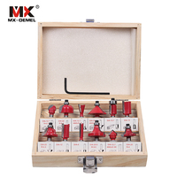 MX DEMEL 12Pcs Milling Cutter 8mm Router Bit Set Wood Cutter Straight Shank Carbide Cutting Tools